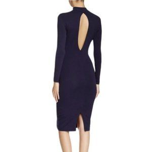 American Apparel | RYDER Midi Fitted Dress Navy